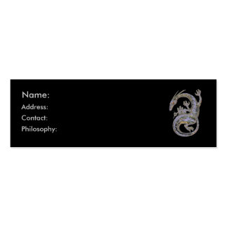 Silver Dragon Profile Cards Double-Sided Mini Business Cards (Pack Of 20)
