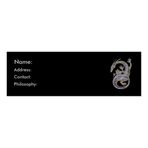 Silver Dragon Profile Cards Business Card