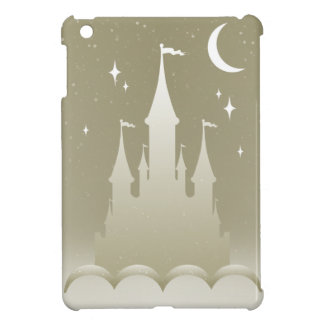 Silver Dreamy Castle In The Clouds Starry Moon Sky Cover For The iPad Mini