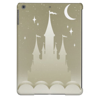 Silver Dreamy Castle In The Clouds Starry Moon Sky iPad Air Cases