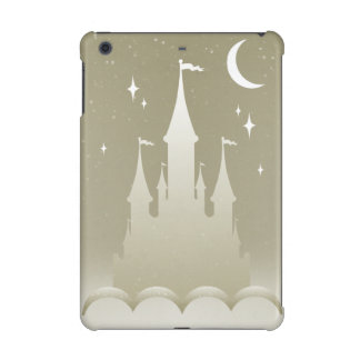 Silver Dreamy Castle In The Clouds Starry Moon Sky