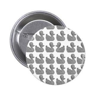 Silver Duck Button