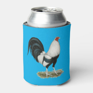 Silver Duckwing Gamecock Can Cooler