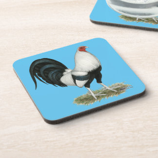 Silver Duckwing Gamecock Coaster