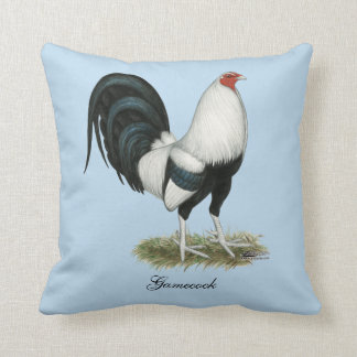 Silver Duckwing Gamecock Cushion