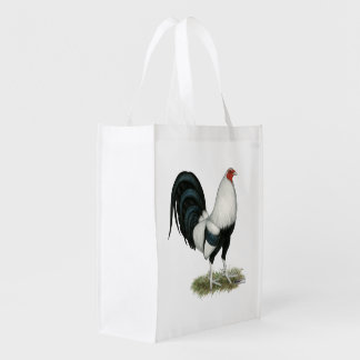 Silver Duckwing Gamecock Reusable Grocery Bag