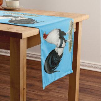 Silver Duckwing Gamecock Short Table Runner