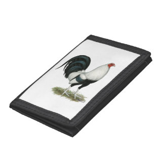Silver Duckwing Gamecock Trifold Wallet