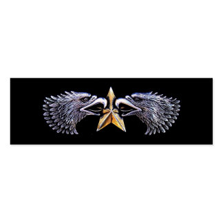 Silver Eagles and Gold Star Bookmark Business Card