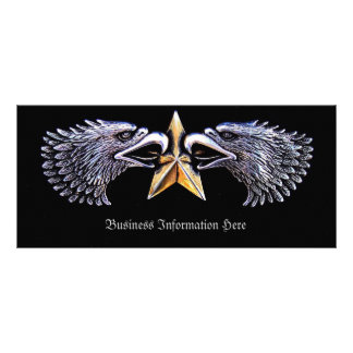 Silver Eagles and Star Bookmark Rack Custom Rack Cards
