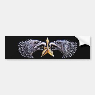Silver Eagles with Gold Star Bumper Sticker