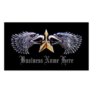 Silver Eagles with Gold Star Business Cards