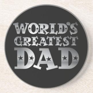 Silver Effect Worlds Greatest Dad Coaster
