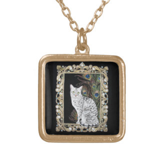 Silver Egyptian Mau Necklaces