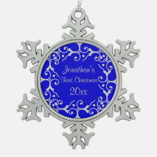 Silver Elegance First Christmas Snowflake Ornament