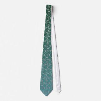 Silver Elegance Teal Tie
