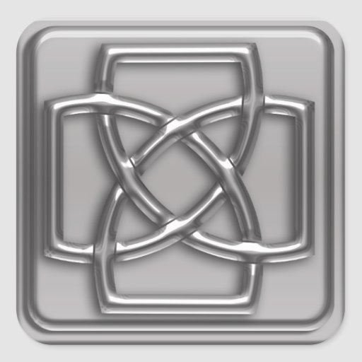 Silver Embossed Effect Cletic Knot Badge Sticker