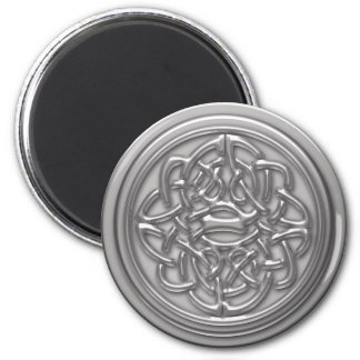 Silver Embossed Effect Cletic Knot Refrigerator Magnets