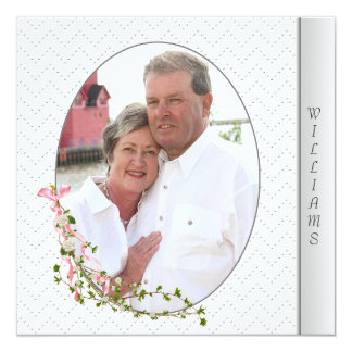 Silver embossed vow renewal card