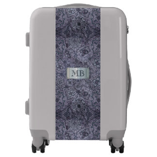 Silver Embossed with Your Initial(s) Luggage