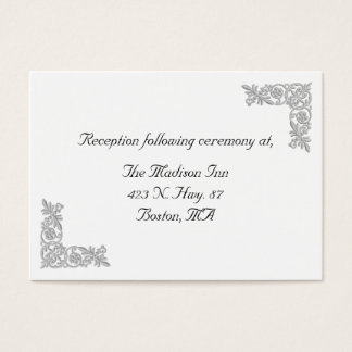 Silver embroidery graphic Wedding enclosure cards