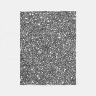 Silver Faux Glitter Pattern Girly Fleece Blanket