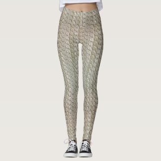 Silver Faux Snake Skin Leggings Male/Female