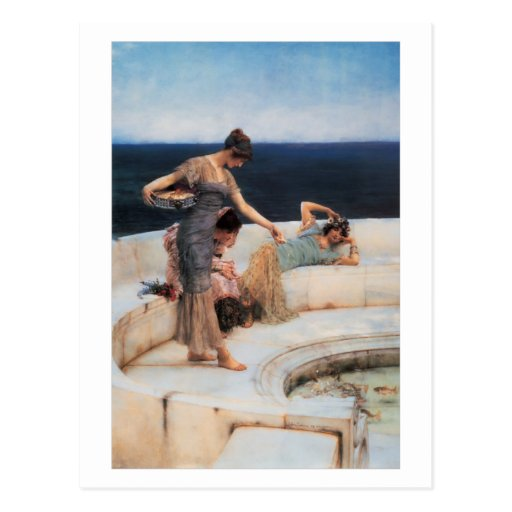 Silver Favorites by Lawrence Alma-Tadema Postcard