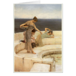 Silver Favourites by Sir Lawrence Alma-Tadema Card