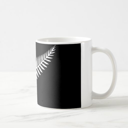 Silver Fern Flag (New Zealand) Coffee Mugs