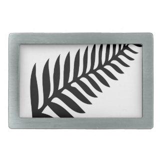 Silver Fern of New Zealand Rectangular Belt Buckle