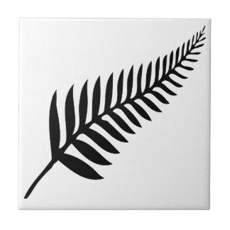 Silver Fern of New Zealand Tile