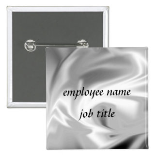 Silver Fire Employee Name Tag Button