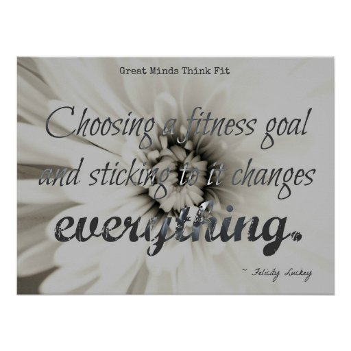 Silver Fitness Flower Poster