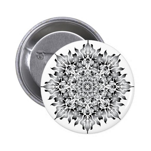 Silver Flame White Button