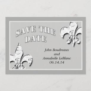 Fleur De Lis Save The Date Cards Zazzle Au