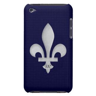 Silver Fleur-de-Lys on iPod Touch Case-Mate Case