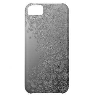 Silver floral. iPhone 5C case
