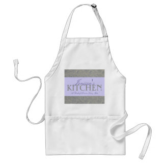 Silver Floral Pinch of Love Apron