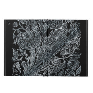 silver florals inlay style case for iPad air