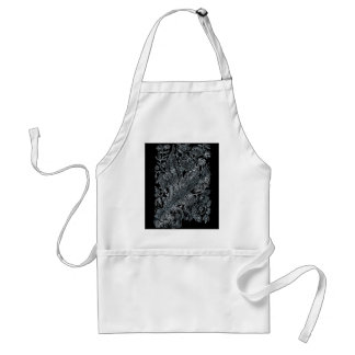 silver florals inlay style standard apron