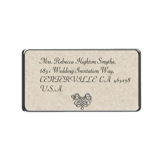 Silver Flourish Wedding Address Labels