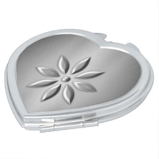 Silver flower vanity mirror