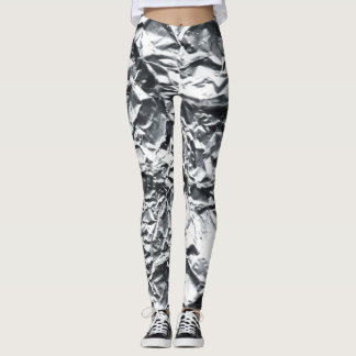 Silver Foil #1 Leggings