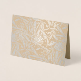 Silver foil abstract chili peppers foil card
