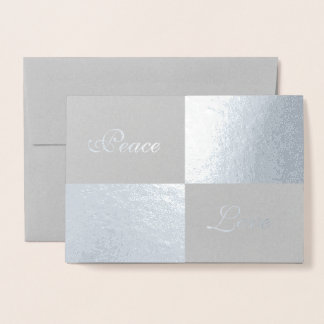 Silver Foil and Grey Rectangles Happy New Year Foil Card