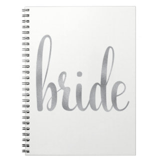 Silver foil bride notebook