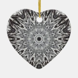 Silver Foil Heart Christmas Ornament