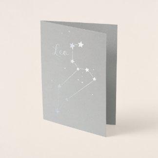 Silver Foil Leo Zodiac Constellation Foil Card