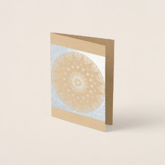 Silver Foil on Kraft Mandala Blank Card